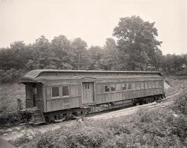 Old Railroad Car-b&w