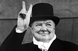 Winston_Churchill-giving the peace sign